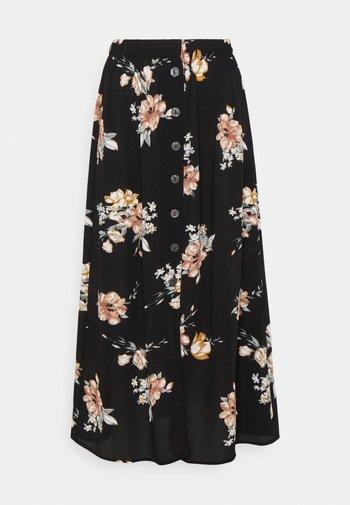 ONLNOVA LUX BUTTON SKIRT - A-line skirt - black