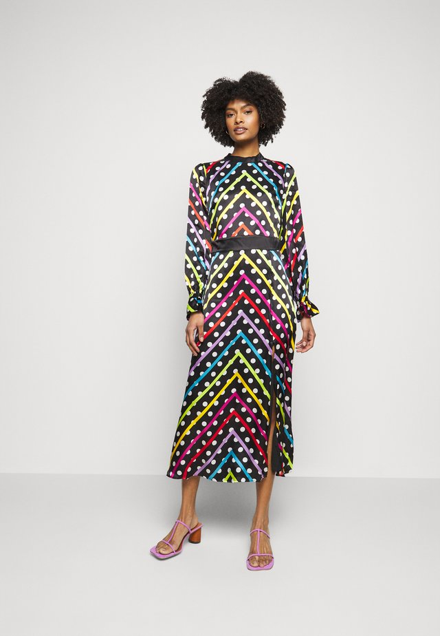 MARLEY DRESS - Maxikjoler - black/multi-coloured