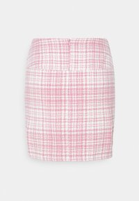 Missguided - BRUSHED CHECK MINI SKIRT - Mini skirt - pink - 1