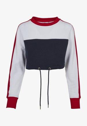LADIES  - Sweatshirt - navy/white/fire red