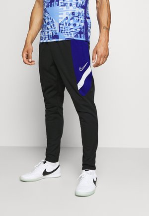 DRY ACADEMY PANT  - Tracksuit bottoms - black/deep royal blue/white