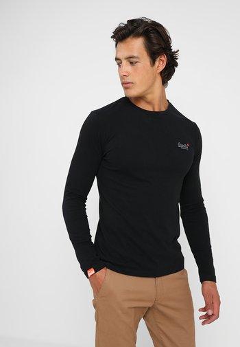 ORANGE LABEL VINTAGE TEE - Long sleeved top - black