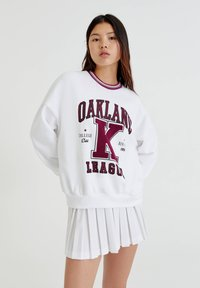 PULL&BEAR - OAKLAND MIT PATENTMUSTER - Sweater - white - 0