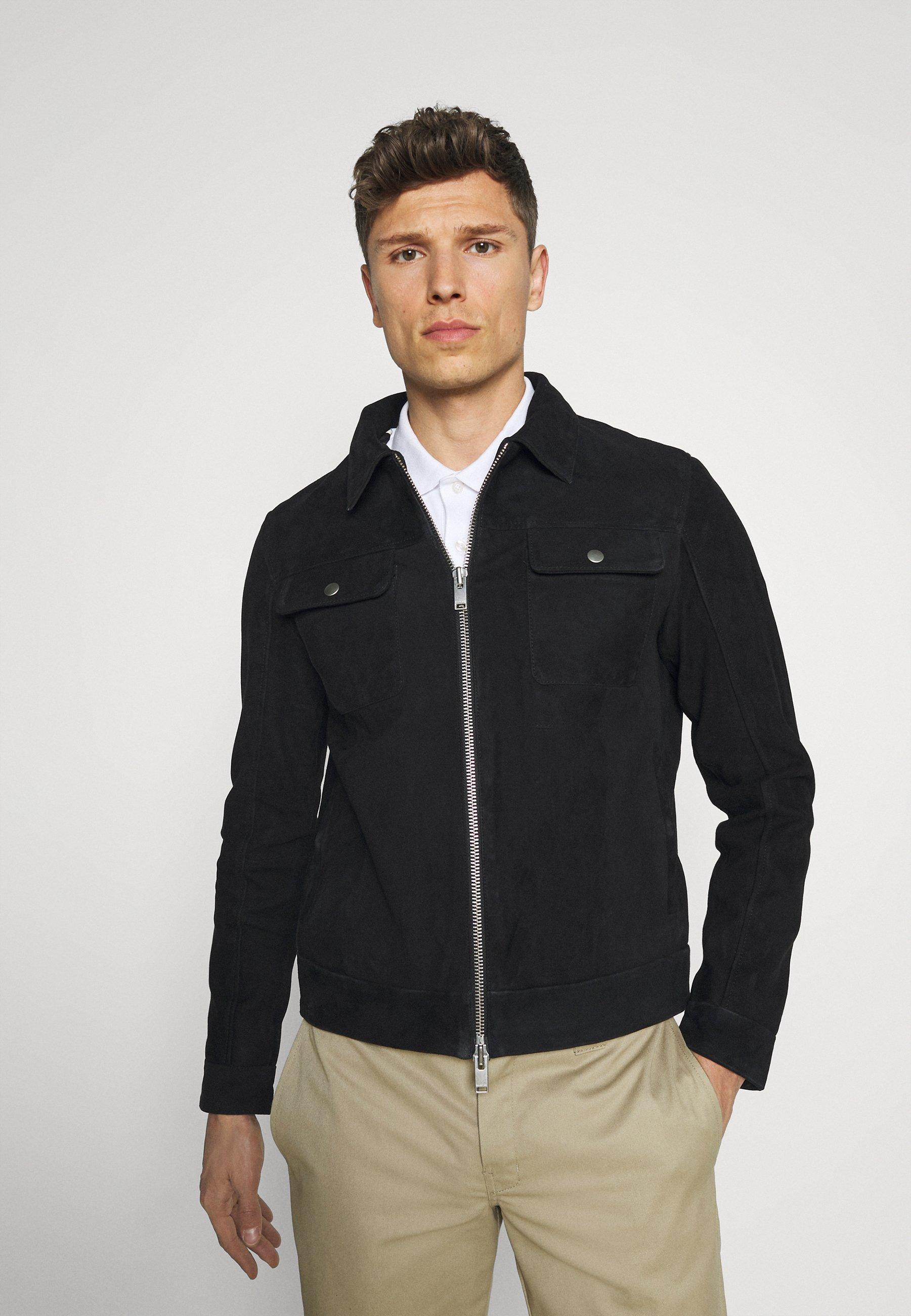 Men SLHICONIC BLOUSON - Leather jacket