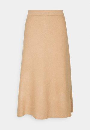 VMFRESNO CALF SKIRT - A-line skirt - tan