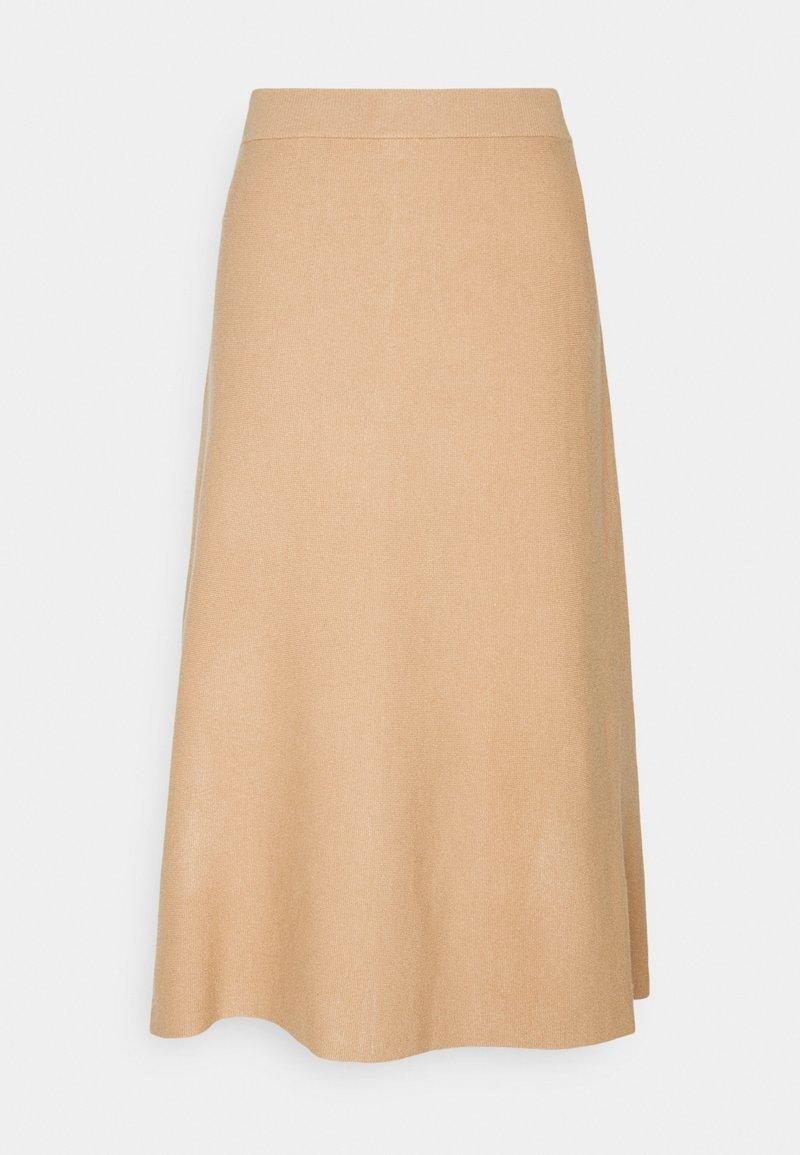Vero Moda Tall - VMFRESNO CALF SKIRT - A-line skirt - tan