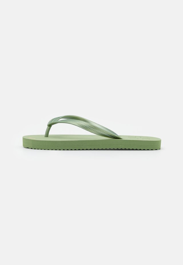 ORIGINALS METALLIC - Teenslippers - sage