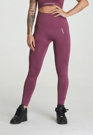 SEAMLESS LEGGINGS MODEL ONE - Trikoot - burgundy