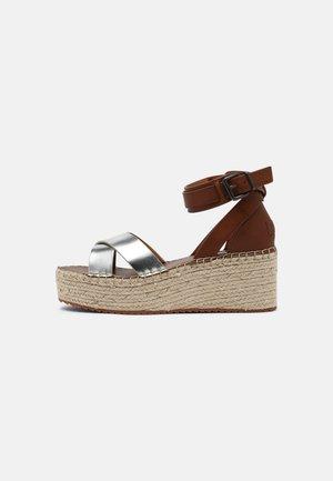 WITNEY COLLAR - Platform sandals - silver