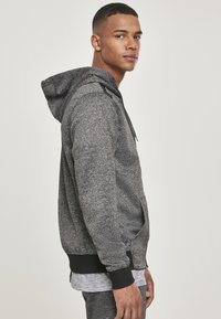 Southpole - HERREN MARLED TECH FLEECE FULL ZIP HOODY - Sweatjacke - marled black - 6