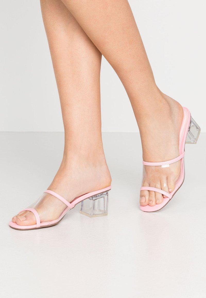 Topshop - DUSTY PERSPEX MULE - Sandalias - pink