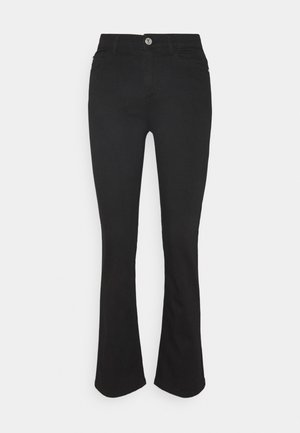 ONYKENYA LIFE MID SWEET  BJ - Flared jeans - black