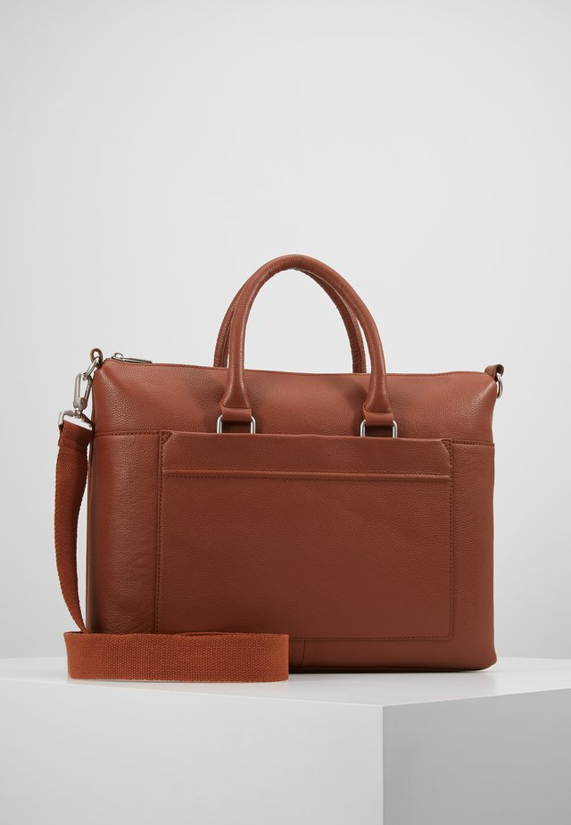 LEATHER - Briefcase - dark brown