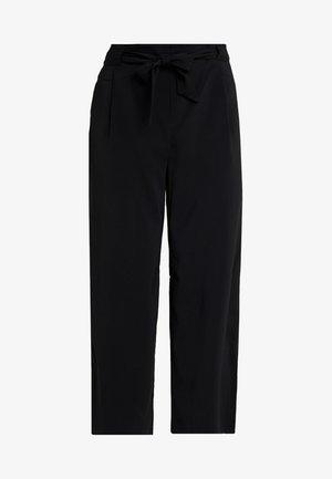 EMERALD TIE WAIST - Trousers - black