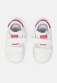 adidas Originals - STAN SMITH UNISEX - Trainers - white/bold pink - 3