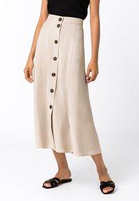 HALLHUBER - A-line skirt - hellbeige - 0
