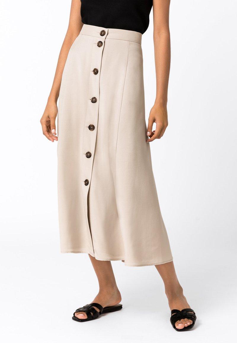 HALLHUBER - A-line skirt - hellbeige