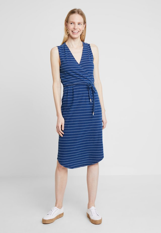 AVERY STRIPE DRESS - Jerseykjole - indigo