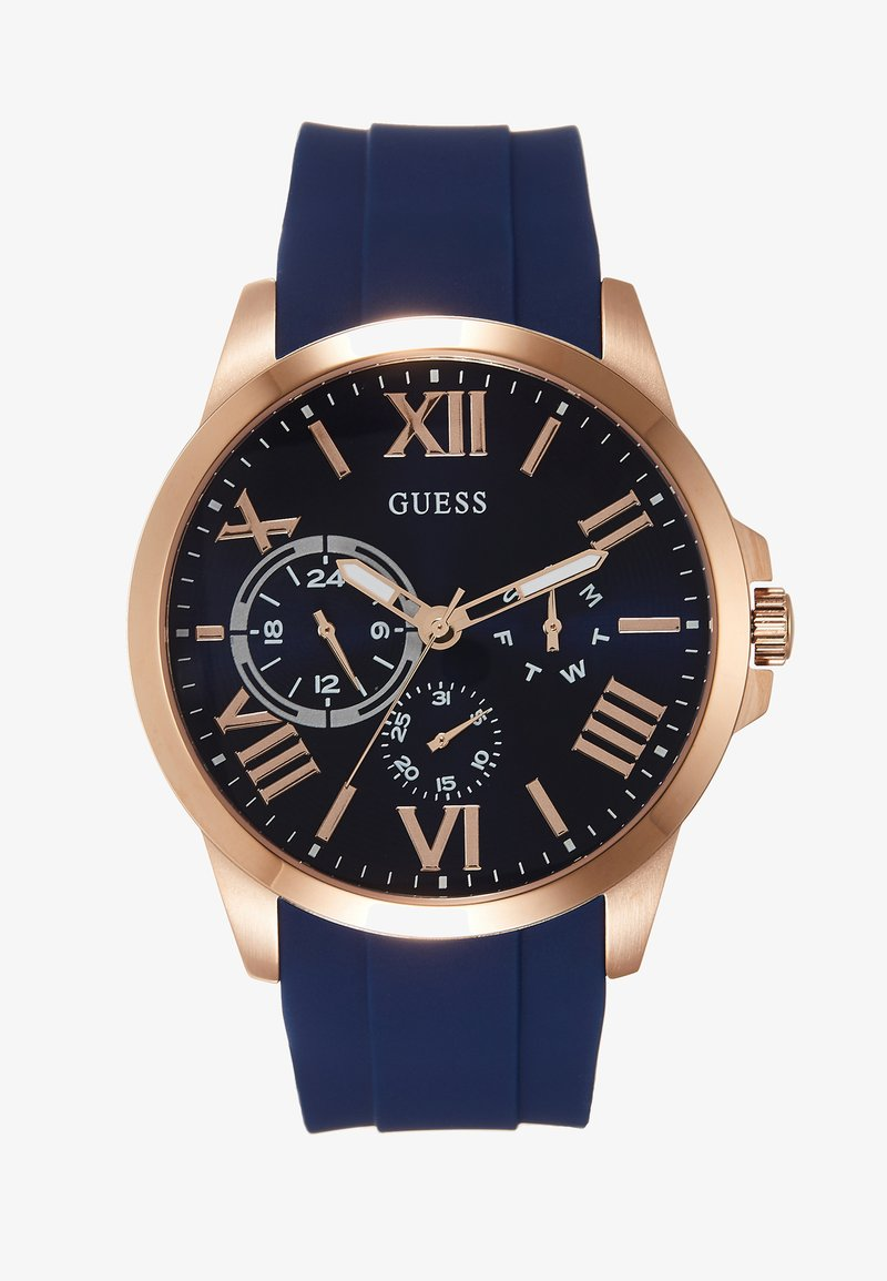 Guess - MENS DRESS MULTIFUNCTION  - Chronograph watch - blue/rose gold