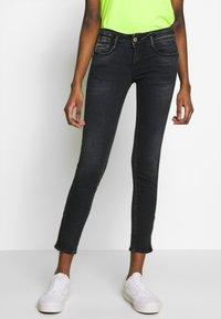 Le Temps Des Cerises - PULPC - Slim fit jeans - black/blue - 0