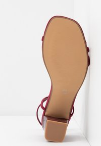 Rubi Shoes by Cotton On - HANNAH THIN STRAP HEEL - Sandály - cabernet - 6