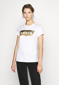 Levi's® - THE PERFECT TEE - T-shirt med print - gold - 0