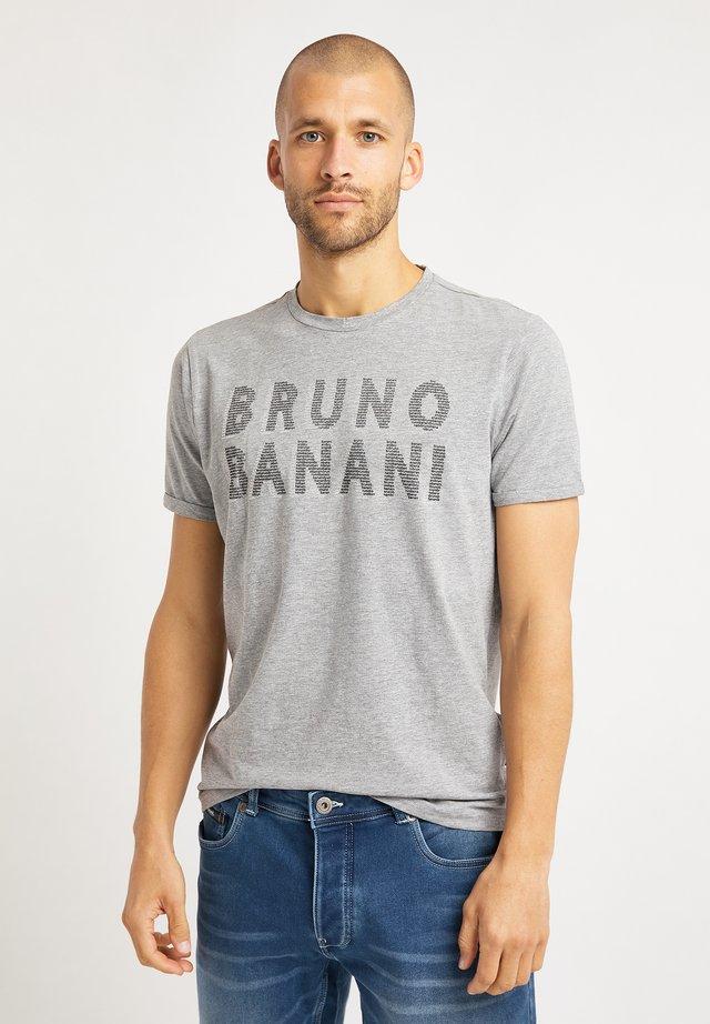 T-shirt con stampa - grau melange