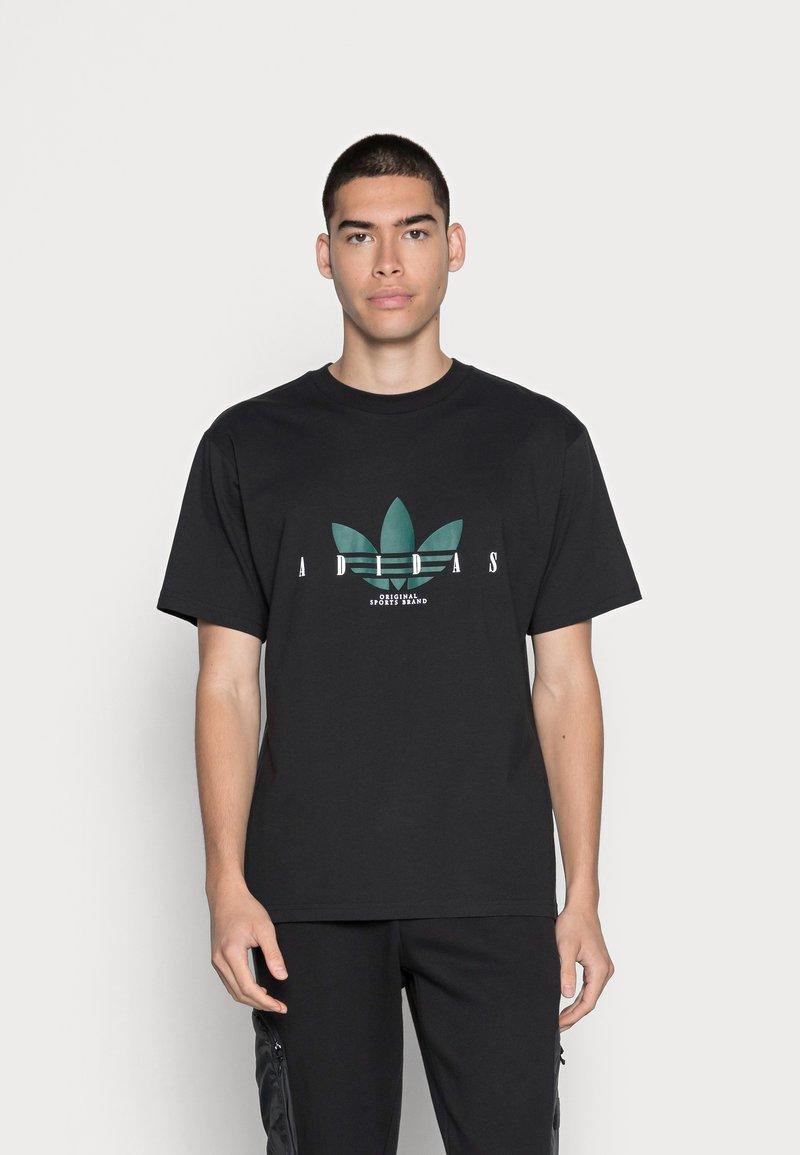 adidas Originals - TREFOIL SCRIPT - Print T-shirt - black