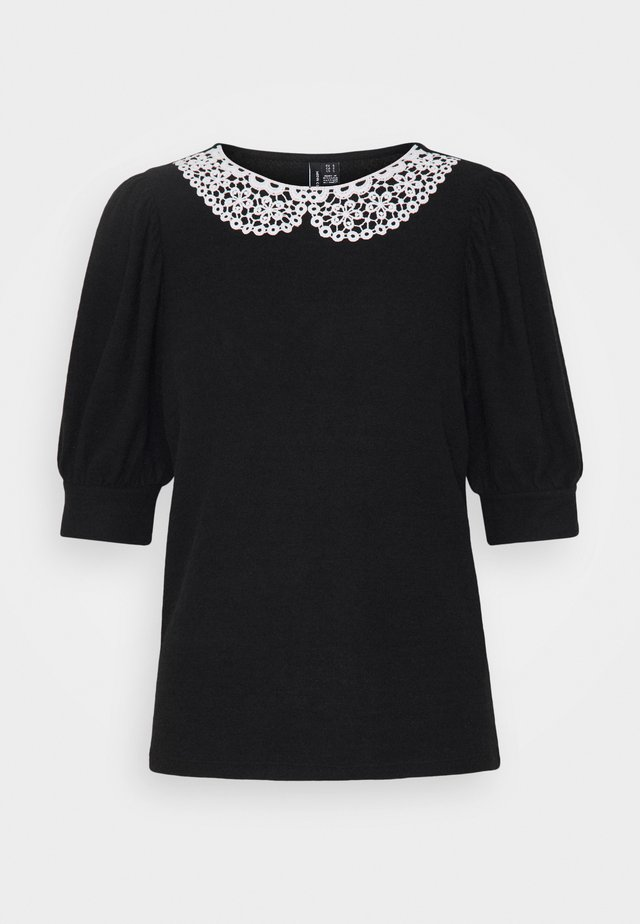 VMTAMIRA COLLAR - Printtipaita - black/snow white