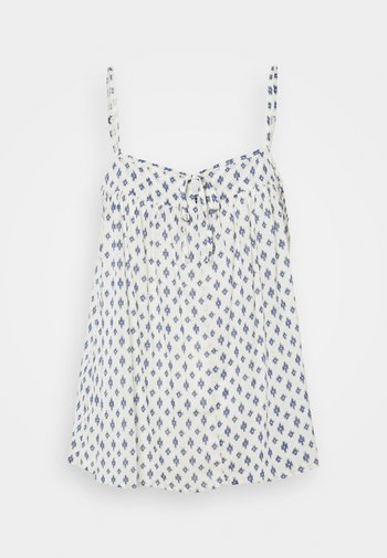 TIE FRONT CAMI - Top - white