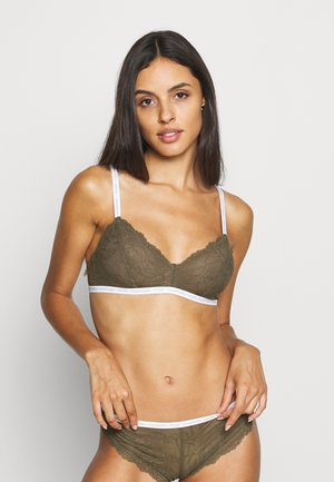 ONE UNLINED - Triangel BH - muted pine