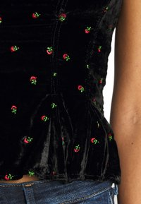 Free People - ROSIE EMBROIDERED BUSTIER - Top - black - 5