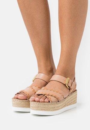 GLYN - Platform sandals - nude