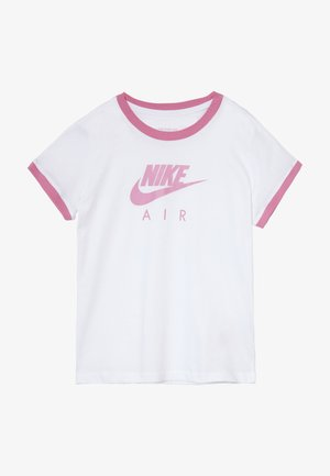 Print T-shirt - white/magic flamingo