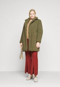 Noisy May Curve - NMGABI JACKET - Classic coat - kalamata - 1