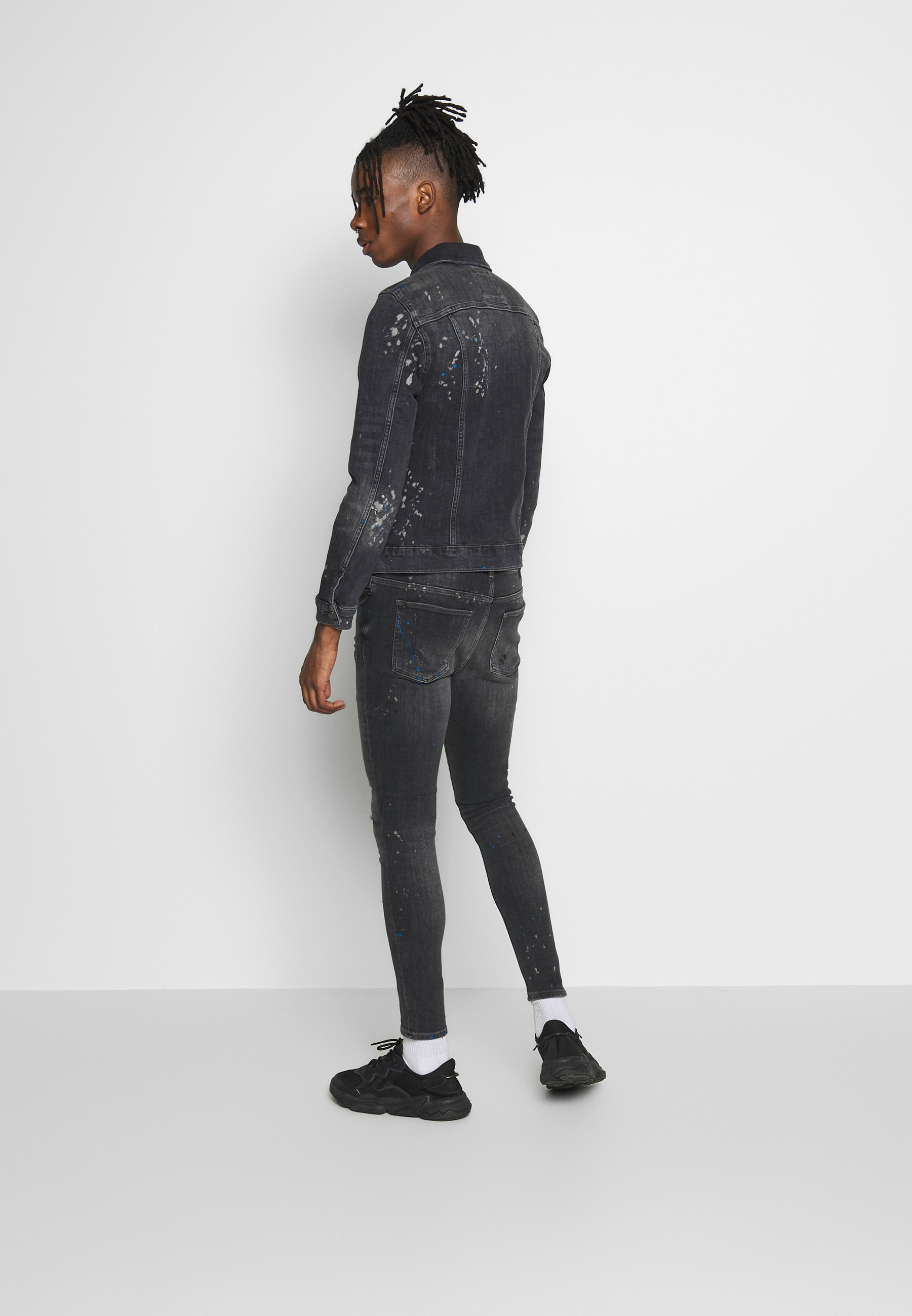 River Island Jeansjakke - washed black