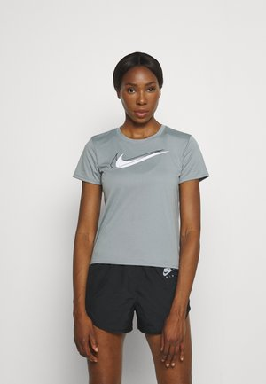 RUN - Print T-shirt - particle grey