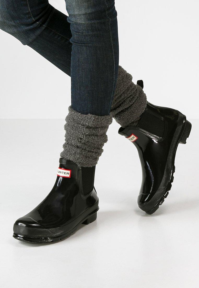 Hunter ORIGINAL - WOMENS ORIGINAL CHELSEA GLOSS - Bottes en caoutchouc - black