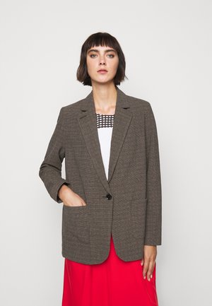 LINDA - Short coat - brown melange