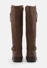 Dorothy Perkins - KAPTAIN ZIP CLEATED LONG BOOT - Vysoká obuv - choc - 3