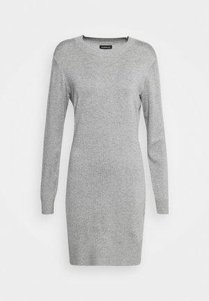 JUMPER Knit DRESS - Etuikjole - mid grey melange