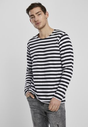 STRIPE LS - Long sleeved top - white/black