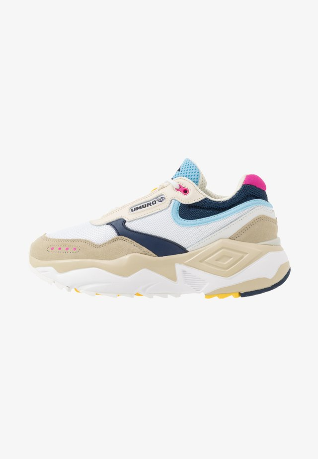 PHOENIX - Sneakers laag - white/black/pale khaki/sky blue/pink flash