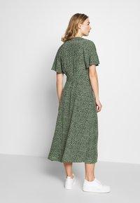 Whistles - ANITA SPOTTED FRILL SLEEVE DRESS - Shirt dress - green/multi - 2