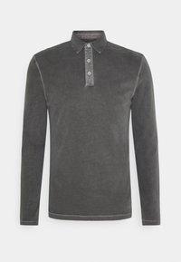 LONG SLEEVE FLATLOCK DETAILS - Polo shirt - castlerock