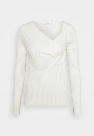 TWISTED FRONT TOP - Strikkegenser - off white