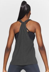 Filippa K - TWIST LAYER TANK - Topper - coal - 2