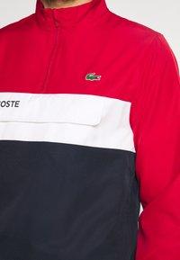 Lacoste Sport - TRACKSUIT - Träningsset - ruby/navy blue/white - 7