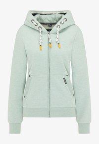 Schmuddelwedda - Zip-up sweatshirt - rauchmint melange - 4