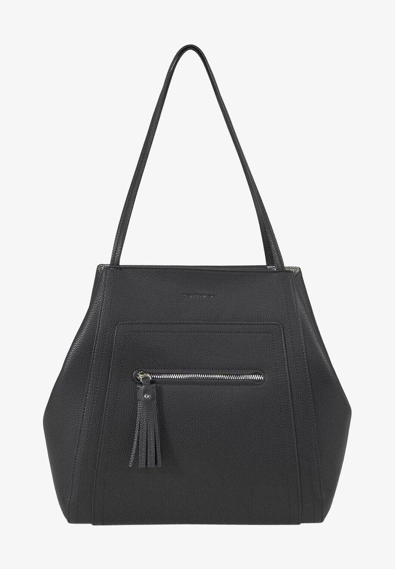 TOM TAILOR - MIT ANHÄNGER - Handbag - schwarz/black